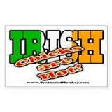 Irish Chicks; Rectangle Sticker 50 pk)