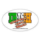 Irish Chicks; Oval Sticker (10 pk)