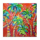 Dancing Palms Tile Coaster