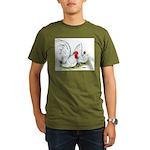 White Japanese Bantams Organic Men's T-Shirt (dark