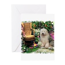 Old English Sheepdog Greeting Cards (Pk of 10)