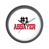 Number 1 ASSAYER Wall Clock