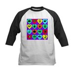 Zoo Hearts Kids Baseball Jersey