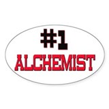 Number 1 ALCHEMIST Oval Decal