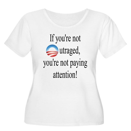 Outrage Women's Plus Size Scoop Neck T-Shirt