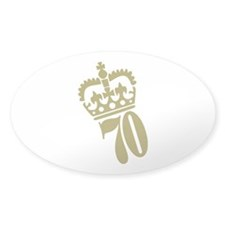 70th Birthday Oval Sticker (10 pk)