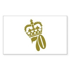 70th Birthday Rectangle Sticker 50 pk)