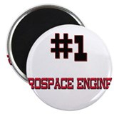"Number 1 AEROSPACE ENGINEER 2.25"" Magnet (10 pack)"