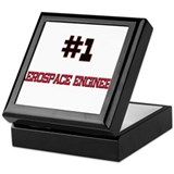 Number 1 AEROSPACE ENGINEER Keepsake Box