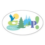 Camp! Oval Sticker (50 pk)