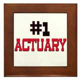 Number 1 ACTUARY Framed Tile