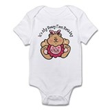 Beary 1st Birthday Girl Infant Bodysuit