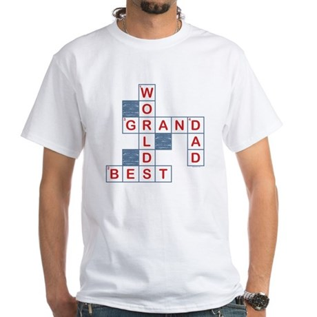 Crossword Grandpa White T-Shirt