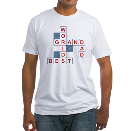 Crossword Grandpa Fitted T-Shirt