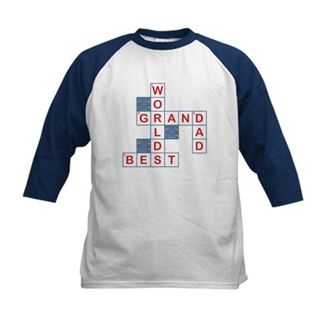Crossword Grandpa Kids Baseball Jersey
