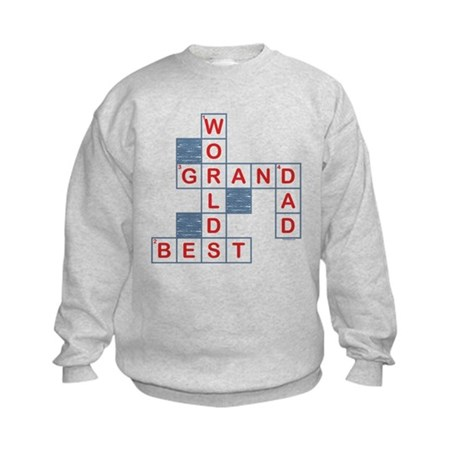 Crossword Grandpa Kids Sweatshirt