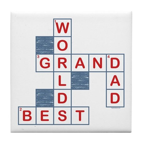 Crossword Grandpa Tile Coaster