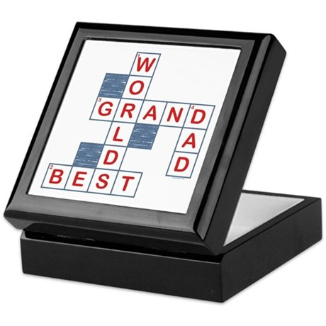 Crossword Grandpa Keepsake Box