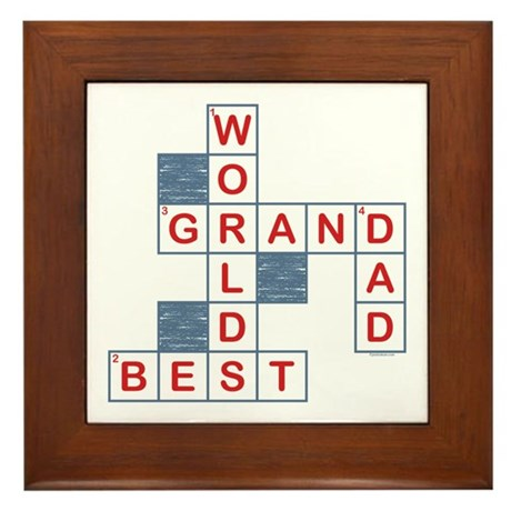 Crossword Grandpa Framed Tile