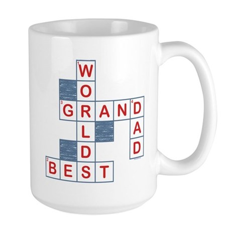 Crossword Grandpa Large Mug