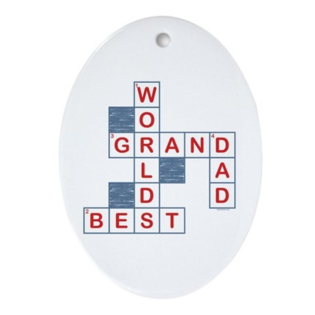 Crossword Grandpa Oval Ornament