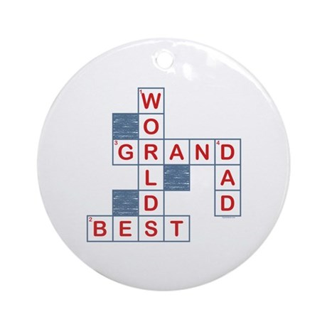Crossword Grandpa Ornament (Round)