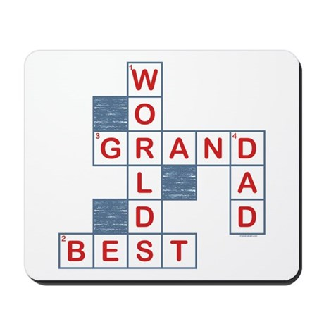Crossword Grandpa Mousepad