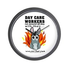 Day Care Workers Wall Clock