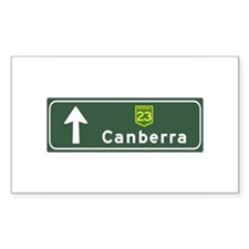 Canberra, Australia Hwy Sign Rectangle Decal