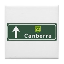 Canberra, Australia Hwy Sign Tile Coaster