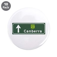 "Canberra, Australia Hwy Sign 3.5"" Button (10 pack)"