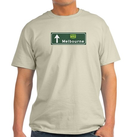 Melbourne, Australia Hwy Sign Light T-Shirt