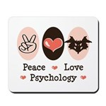 Peace Love Psychology Psychologist Mousepad