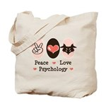 Peace Love Psychology Tote Bag