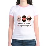 Peace Love Psychology Jr. Ringer T-Shirt