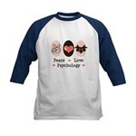 Peace Love Psychology Kids Baseball Jersey