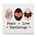 Peace Love Psychology Tile Coaster