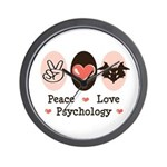 Peace Love Psychology Wall Clock