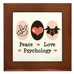 Peace Love Psychology Psychologist Framed Tile