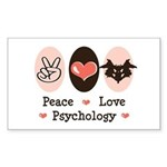 Peace Love Psychology Rectangle Sticker