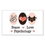 Peace Love Psychology Rectangle Sticker 10 pk)