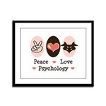 Peace Love Psychology Framed Panel Print