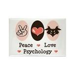 Peace Love Psychology Rectangle Magnet (10 pack)
