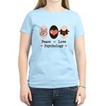 Peace Love Psychology Psychologist T-shirt