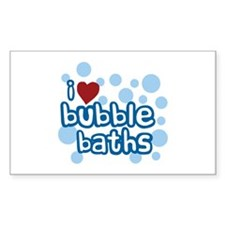 I Love Bubble Baths Rectangle Decal