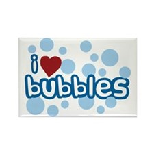 I Love Bubbles Rectangle Magnet