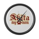 Akita Mom Large Wall Clock