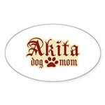 Akita Mom Sticker (Oval 10 pk)