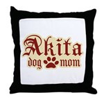 Akita Mom Throw Pillow
