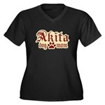 Akita Mom Women's Plus Size V-Neck Dark T-Shirt